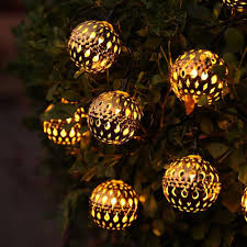 moroccan outdoor lighting. Solar Globe String Lights, Moroccan Ball 12ft 10 LED Fairy Orb Lantern Christmas Powered Lights-in Lighting Strings From Lights Outdoor R