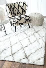 plush white rug handmade trellis plush white silky rug 5 feet by 8 feet x plush white rug