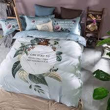 elegant 100 cotton duvet cover set blue flowers duvet cover bed sheet bedding pillowcase