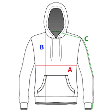 Hoodie Size Chart Mcgill Classic Hoodie Size Chart Le James Mcgill