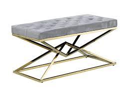 Gold velvet bench-53154 - Santiago Pons