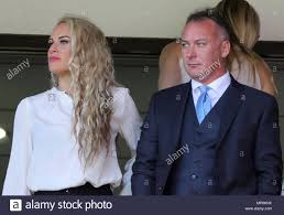 Prospective new Sunderland owner Stewart Donald (right) and girlfriend Lora  Clarke in the stands during the Sky Bet Championship match at the Stadium  of Light, Sunderland Stock Photo - Alamy