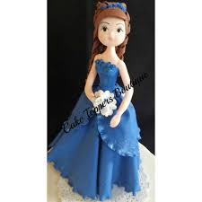 Quinceañera Cake Topper Royal Blue Girl Cake Topper Sweet Sixteen