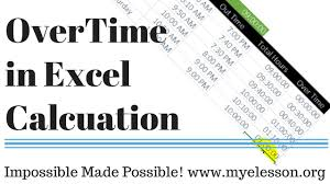 Excel Overtime Formula Calculate Overtime In Excel Hindi