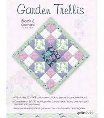 Small Picture Garden Trellis Quilt Pattern rail fence solid blocks with a