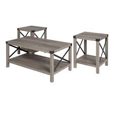 pemberly row 3 piece rustic wood and