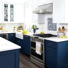 navy and white kitchen navy blue