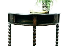 semi circle foyer table half circle foyer table moon entry round large size of console with