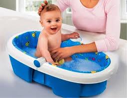 image of sit up baby bath tub