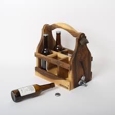 Wooden Beer Caddy Gefertigt In Ostschweizer Nussbaum