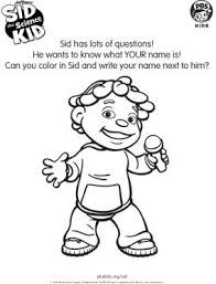 Small Picture Sid the Science Kid Sid the Science Kid Coloring Pages for Kids