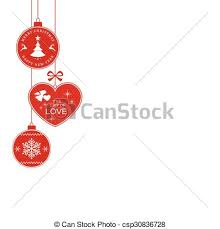 hanging christmas ornaments vector. Fine Vector Christmas Border With Hanging Ornaments  Csp30836728 On Hanging Ornaments Vector