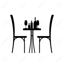 cafe table and chairs clipart. wine and candles on the table chair silhouette. silhouette of a in cafe chairs clipart f