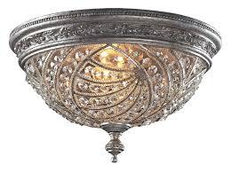 antonia 4 light crystal semi flush mount chandelier elk lighting 6232 4 crystal renaissance flush mount ceiling fixture flush mount crystal lighting
