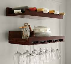 holman entertaining shelves wine glass rack pottery barn h96 rack