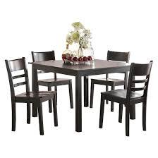 dining set wood. 5 piece veles dining set wood/black - acme wood