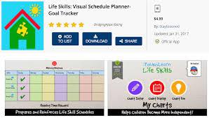 Life Chart App Bridgingapps Reviewed App Life Skills Visual Schedule