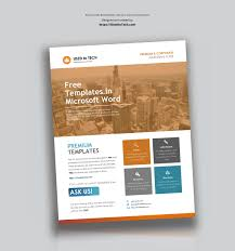 Flyer Templates Microsoft Word Corporate Flyer Design In Microsoft Word Free Used To Tech
