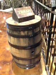 wooden barrel trash can wooden designs with barrel trash can remodel barrel trash compactor