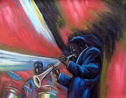 b b king modern jazz black art oil painting