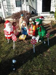 Dinosaur Lawn Decorations I Have A Christmas Dinosaur The Surfing Pizza