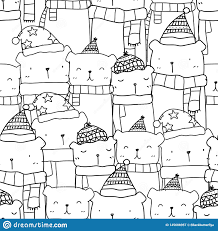 Pattern Seamless With Hand Drawn Cute ...