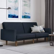paxson linen fabric sofa bed in navy