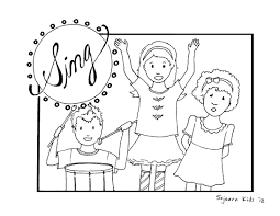 Free Coloring Pages Children Singing In Church Coloring Free