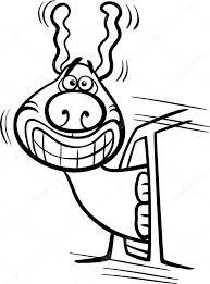 Hond In Auto Cartoon Kleurplaten Pagina Stockvector Izakowski