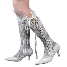 cheap wedding bridal shoes, silver wedding shoes online Cheap Wedding Shoe Boots ericdress lace point toe knee high wedding shoes Silver Wedding Shoes