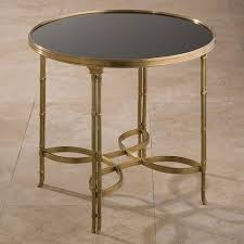 brass and granite round end table
