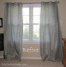 Easy No-Sew Hem for Curtains