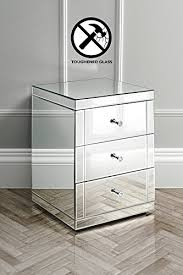 mirrorred furniture. My-Furniture - Mirrored Furniture Bedside Table Cabinet 3 Drawers LUCIA (Chelsea Mirrorred