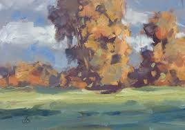 autumn colors plein air painting by tom brown
