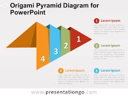 Diagram Of A Pyramid Origami Pyramid Diagram For Powerpoint Presentationgo Com