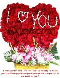i love u red rose romantic picture to