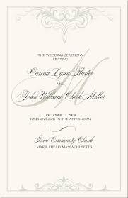 Vintage Monogram Wedding Programs Wedding Ceremony Programs