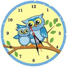two blue owls wall clock designer