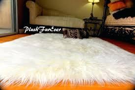 image 0 mongolian fur rug uk faux white