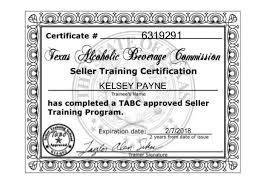 Certification Tabc Certification Tabc 2015 2015 Tabc Tabc 2015 Certification