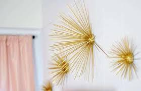 gold wall art fresh diy gold sea urchin starburst wall decor tutorial