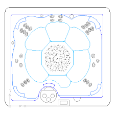 autocad drawing outdoor jacuzzi 6 person hot tub spa in bathrooms detail