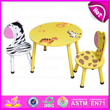 2016 round table and chair for kids animal design children wooden table and chairs wooden toy table chairs for w08g140