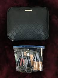 what s in my travel makeup bag tsa makeup bag