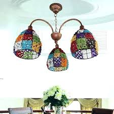 multi colored crystal chandelier