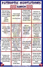 patriotic quotations bingo bingo for patriots patriotic quotations bingo game from com