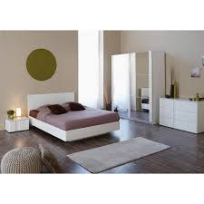 Shiny White Bedroom Furniture Simple Customizable Masculine Bedroom Sets Modern King Bed Double
