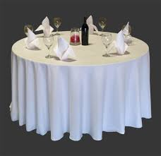 2 restaurant wedding linen table cloths poly round 120