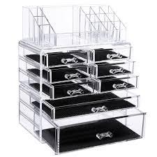 acrylic makeup cosmetics organizer displays rack