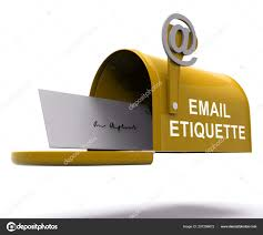Email Etiquette Electronic Message Rules Rendering Shows Proper